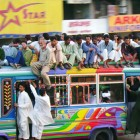 I was in Karachi last week, and saw many of these colorful buses. They certainly are social. (cc) Edge of Space / Flickr