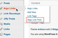 argo links menu