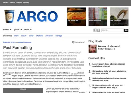 Argo parent theme