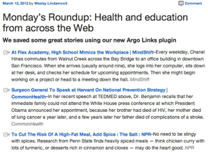published roundup